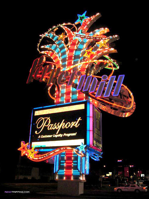 the Peppermill Reno Sign